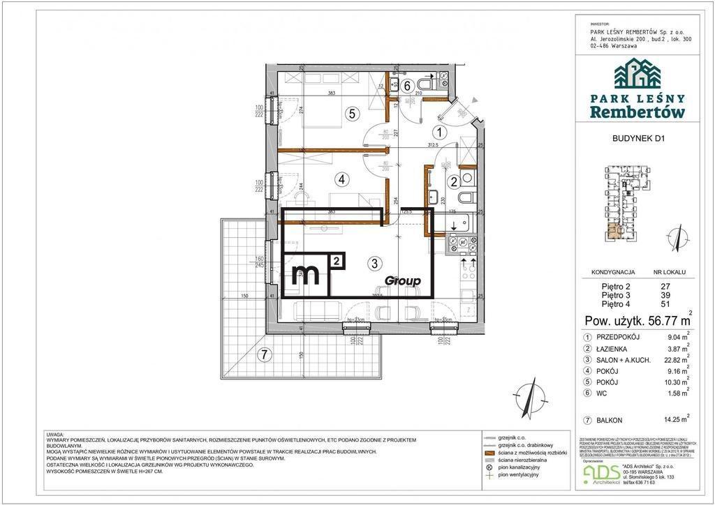 Mieszkanie trzypokojowe na sprzedaż Warszawa, Rembertów, Chełmżyńska  57m2 Foto 2
