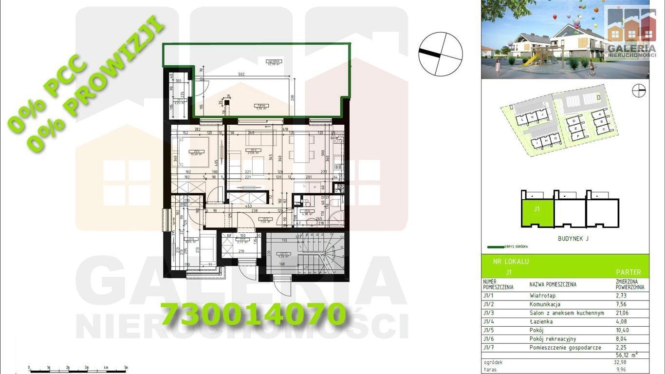Mieszkanie trzypokojowe na sprzedaż Rzeszów, Wilkowyja, Warneńczyka  56m2 Foto 1