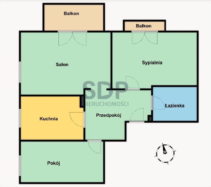 Mieszkanie trzypokojowe na sprzedaż Wrocław, Krzyki, Klecina, Wałbrzyska  66m2 Foto 2