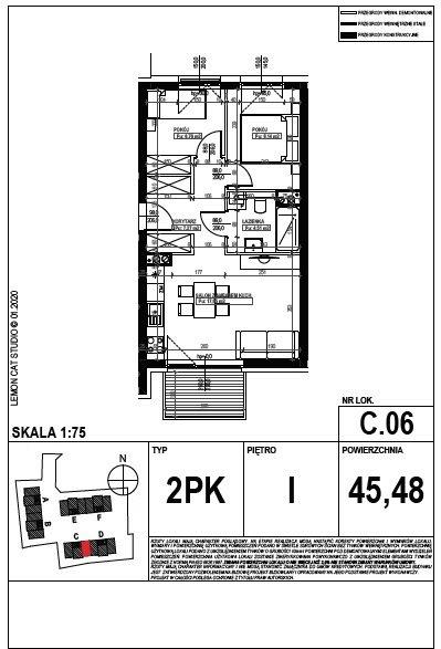 Mieszkanie trzypokojowe na sprzedaż Poznań, Smochowice  45m2 Foto 6