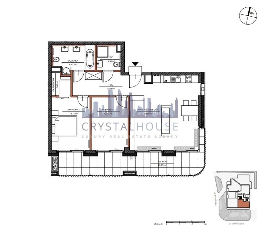 Mieszkanie trzypokojowe na sprzedaż Warszawa, Śródmieście, Górnośląska  78m2 Foto 9