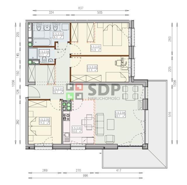 Mieszkanie czteropokojowe  na sprzedaż Wrocław, Śródmieście, Śródmieście  95m2 Foto 6