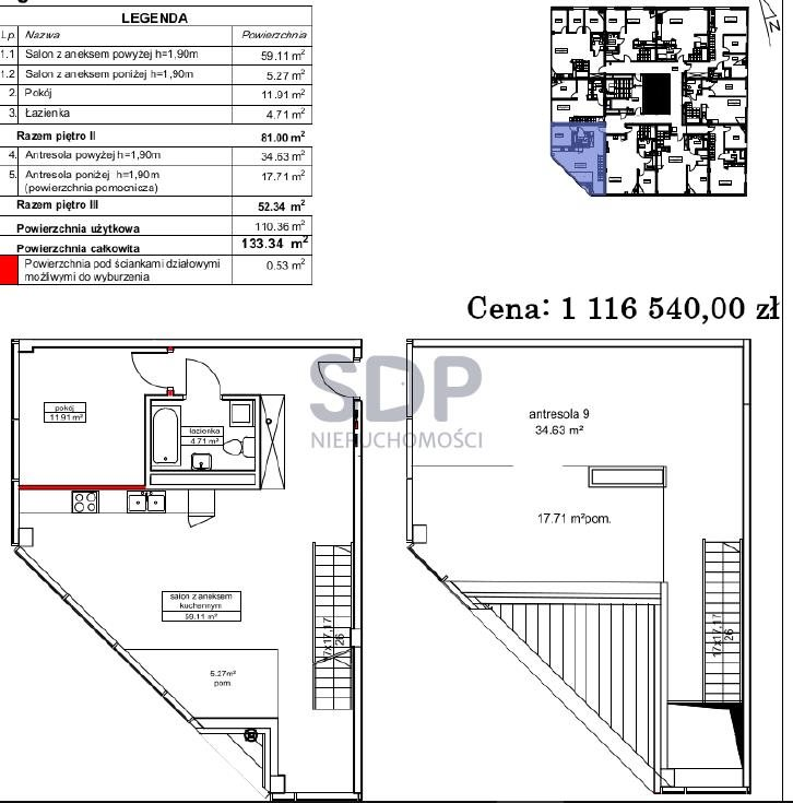 Mieszkanie trzypokojowe na sprzedaż Wrocław, Krzyki, Partynice  133m2 Foto 12