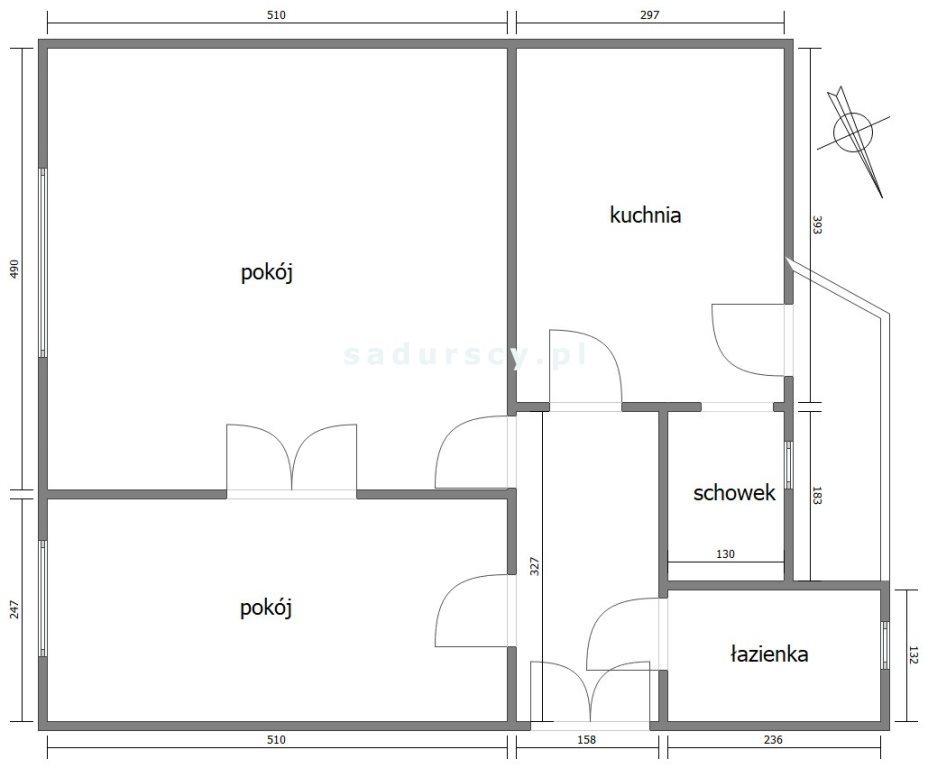 Mieszkanie dwupokojowe na sprzedaż Kraków, Krowodrza, Łobzów, Łokietka  61m2 Foto 3
