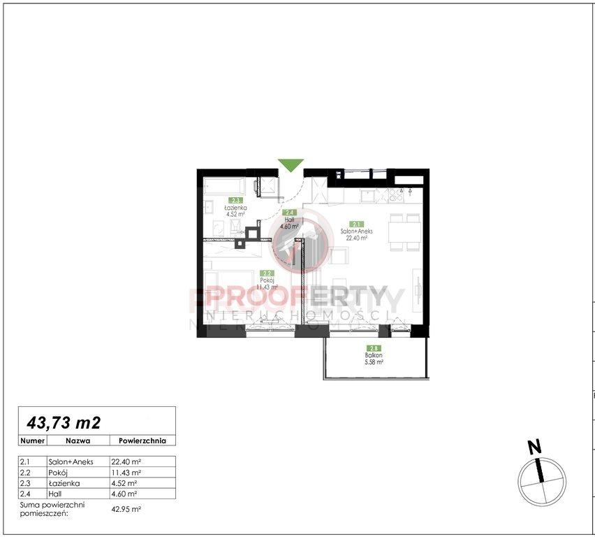 Mieszkanie dwupokojowe na sprzedaż Gdańsk, Jasień, Jabłoniowa  44m2 Foto 3