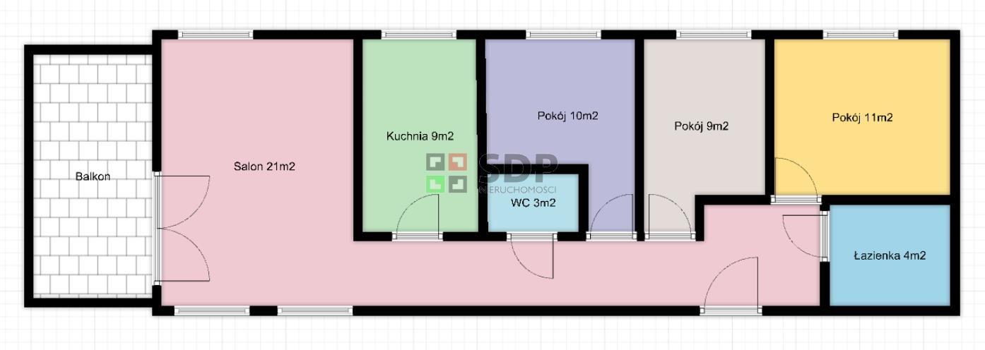 Mieszkanie czteropokojowe  na sprzedaż Wrocław, Psie Pole, Swojczyce, ok. Swojczyckiej  81m2 Foto 2