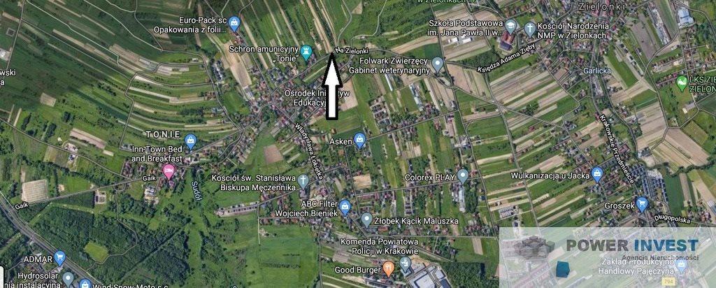 Działka budowlana na sprzedaż Kraków, Prądnik Biały, Prądnik Biały, Na Zielonki  1608m2 Foto 2