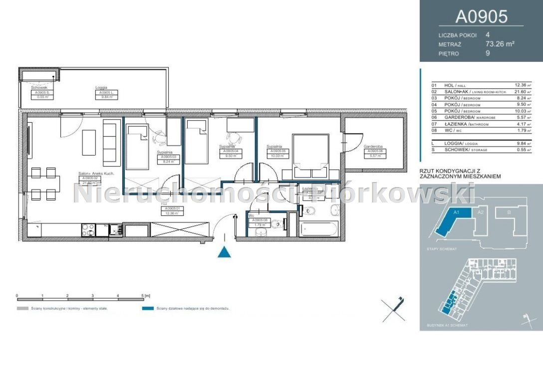 Mieszkanie czteropokojowe  na sprzedaż Warszawa, Mokotów, Służewiec, Kłobucka  65m2 Foto 1