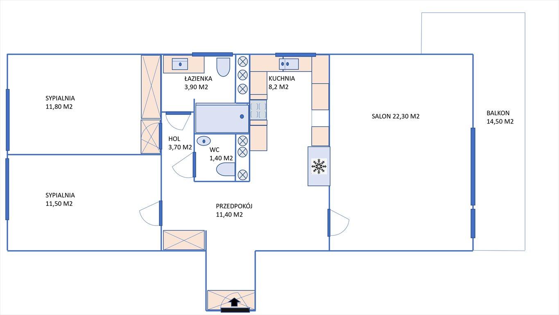 Mieszkanie trzypokojowe na sprzedaż Warszawa, Bielany, Esej  74m2 Foto 14