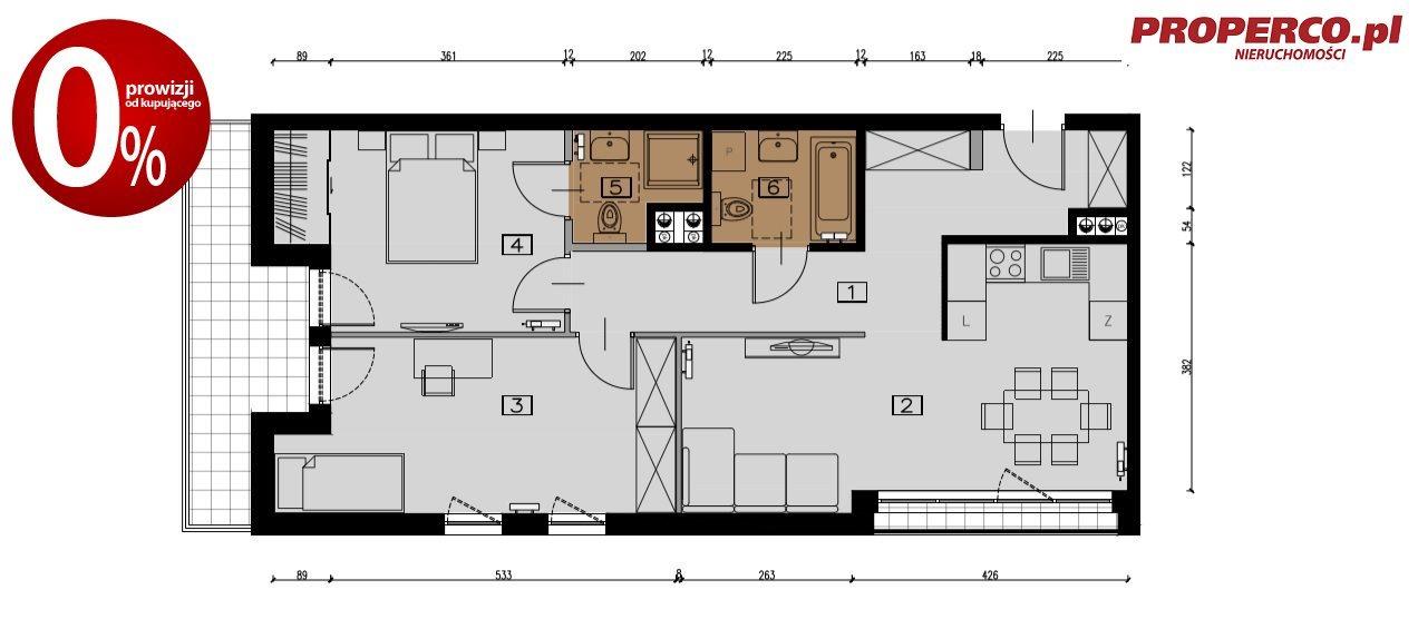 Mieszkanie trzypokojowe na sprzedaż Ostrowiec Świętokrzyski, Centrum, Piwna  71m2 Foto 4