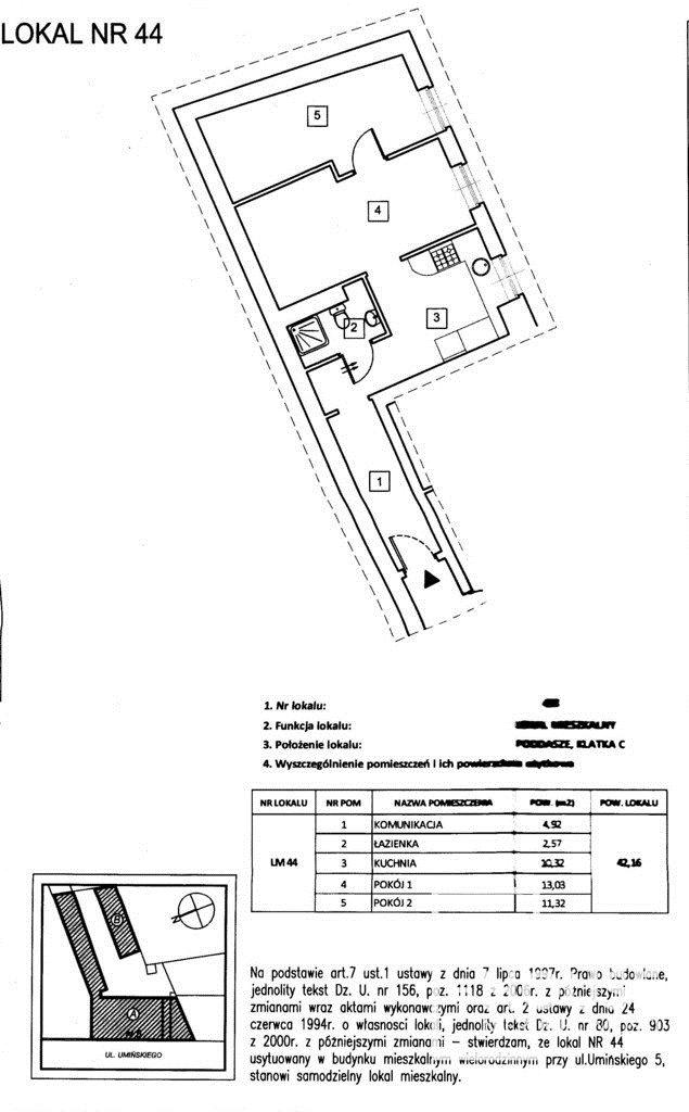 Mieszkanie dwupokojowe na sprzedaż Poznań, Wilda, Jana Umińskiego  42m2 Foto 6