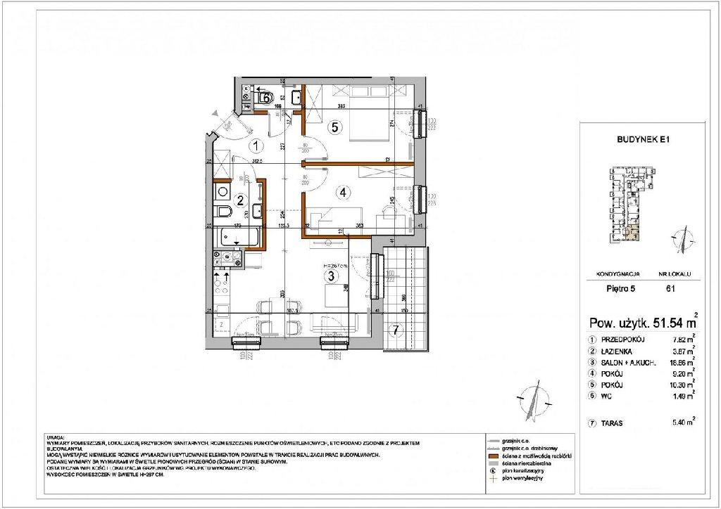 Mieszkanie trzypokojowe na sprzedaż Warszawa, Rembertów, Chełmżyńska  51m2 Foto 2