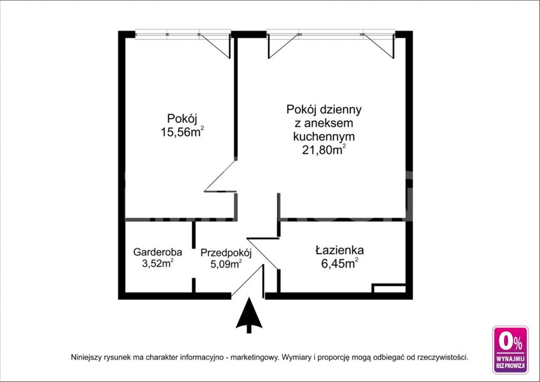 Mieszkanie dwupokojowe na wynajem Wrocław, Przedmieście Oławskie, Krawiecka  57m2 Foto 12