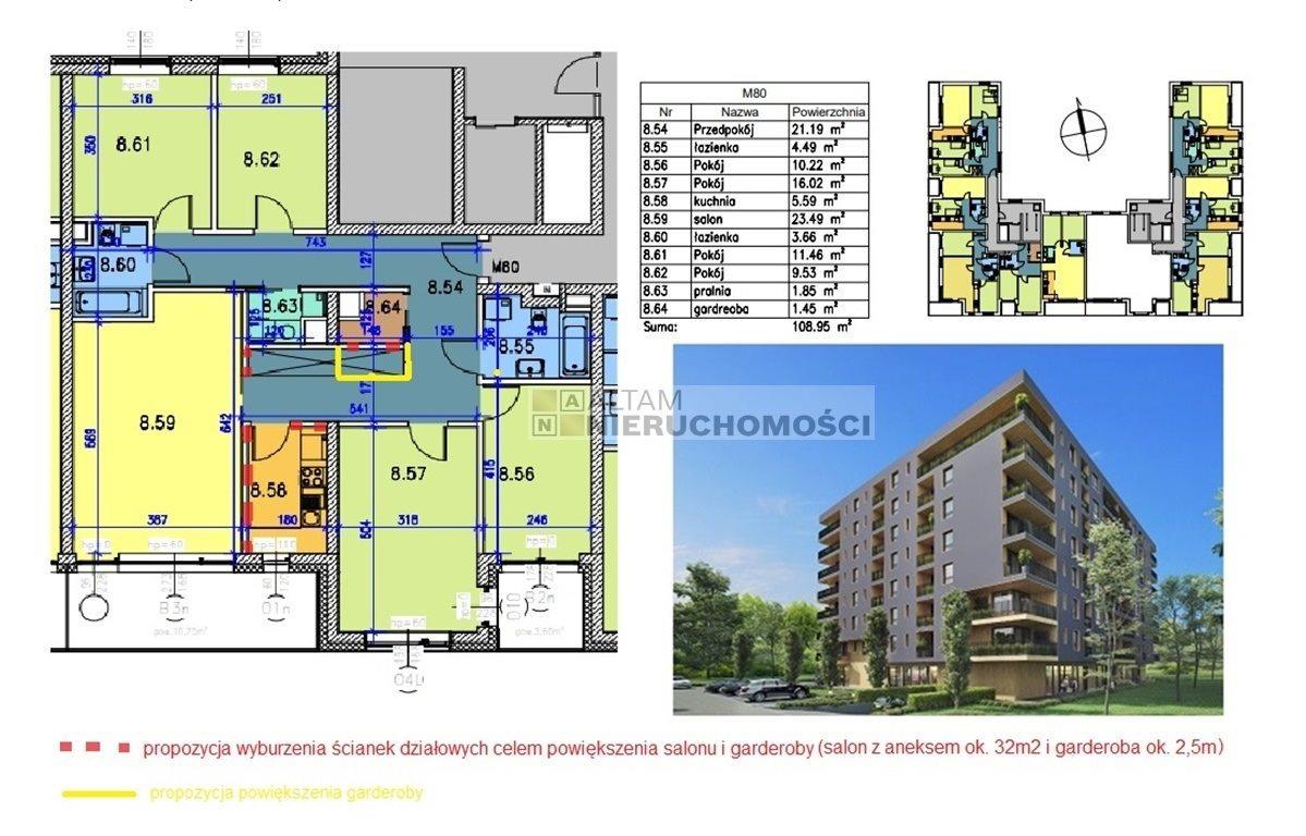 Mieszkanie czteropokojowe  na sprzedaż Kraków, Prądnik Biały, Prądnik Biały, al. 29 Listopada  110m2 Foto 2