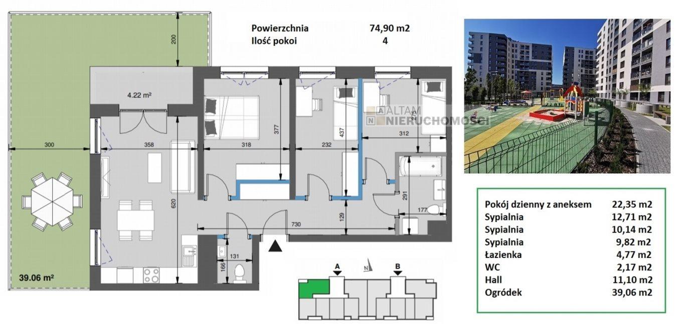 Mieszkanie czteropokojowe  na sprzedaż Kraków, Mistrzejowice, Mistrzejowice  75m2 Foto 1