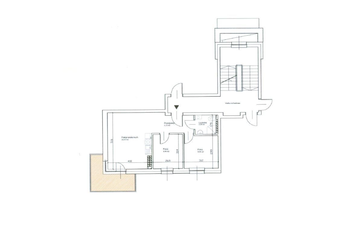 Mieszkanie dwupokojowe na sprzedaż Grudziądz, Mieszka I  46m2 Foto 1