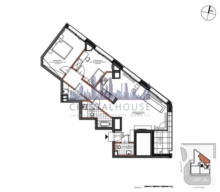 Mieszkanie trzypokojowe na sprzedaż Warszawa, Śródmieście, Górnośląska  79m2 Foto 9
