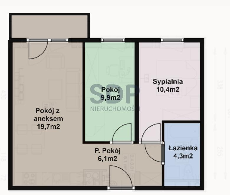 Mieszkanie trzypokojowe na sprzedaż Wrocław, Śródmieście, ok. Jedności Narodowej  50m2 Foto 4