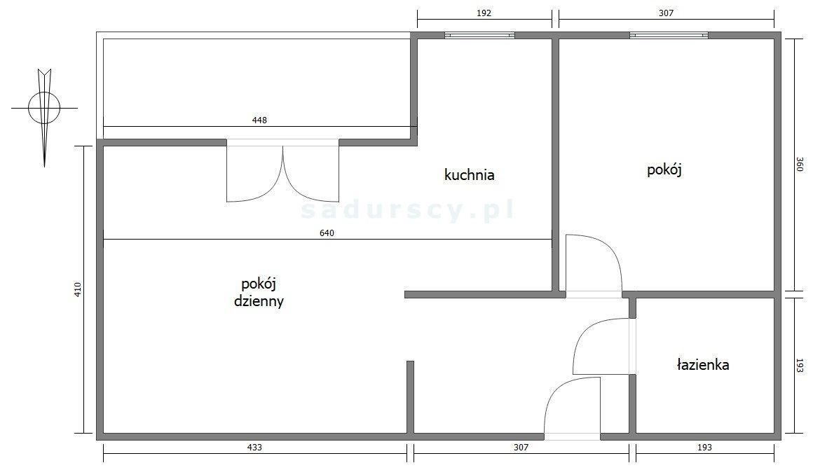Mieszkanie dwupokojowe na sprzedaż Kraków, Dębniki, Kliny, Borkowska  47m2 Foto 3