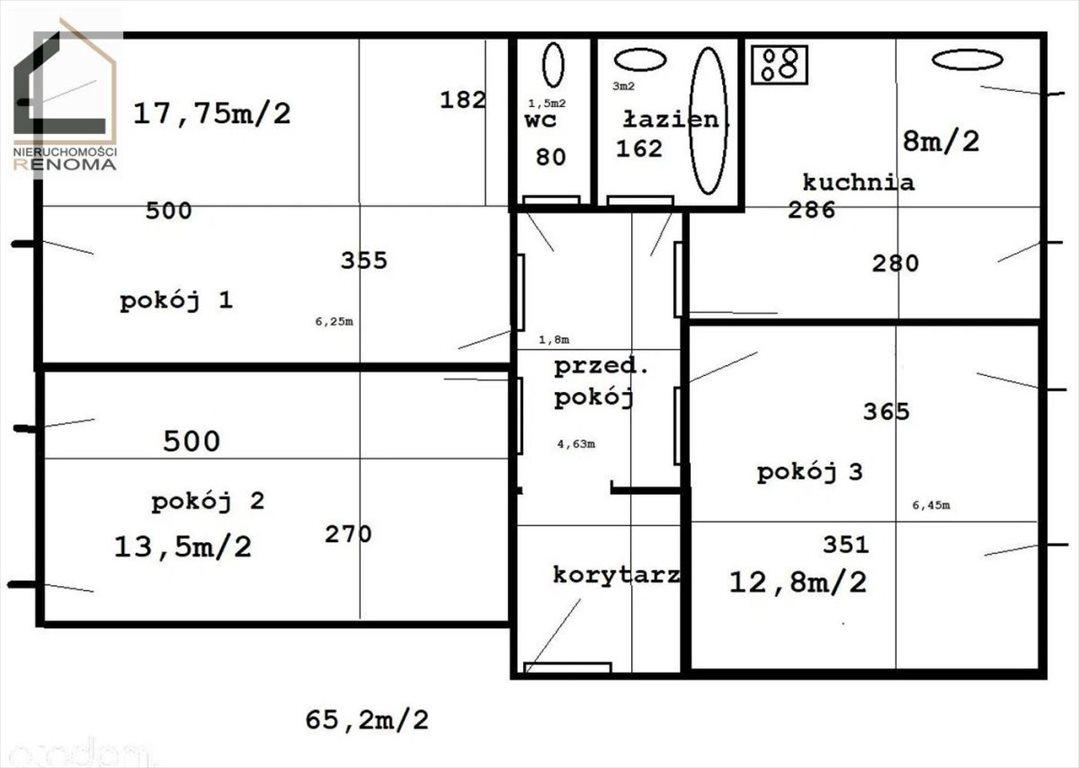 Mieszkanie trzypokojowe na sprzedaż Poznań, Jeżyce, Sołacz, Wojska Polskiego  65m2 Foto 6