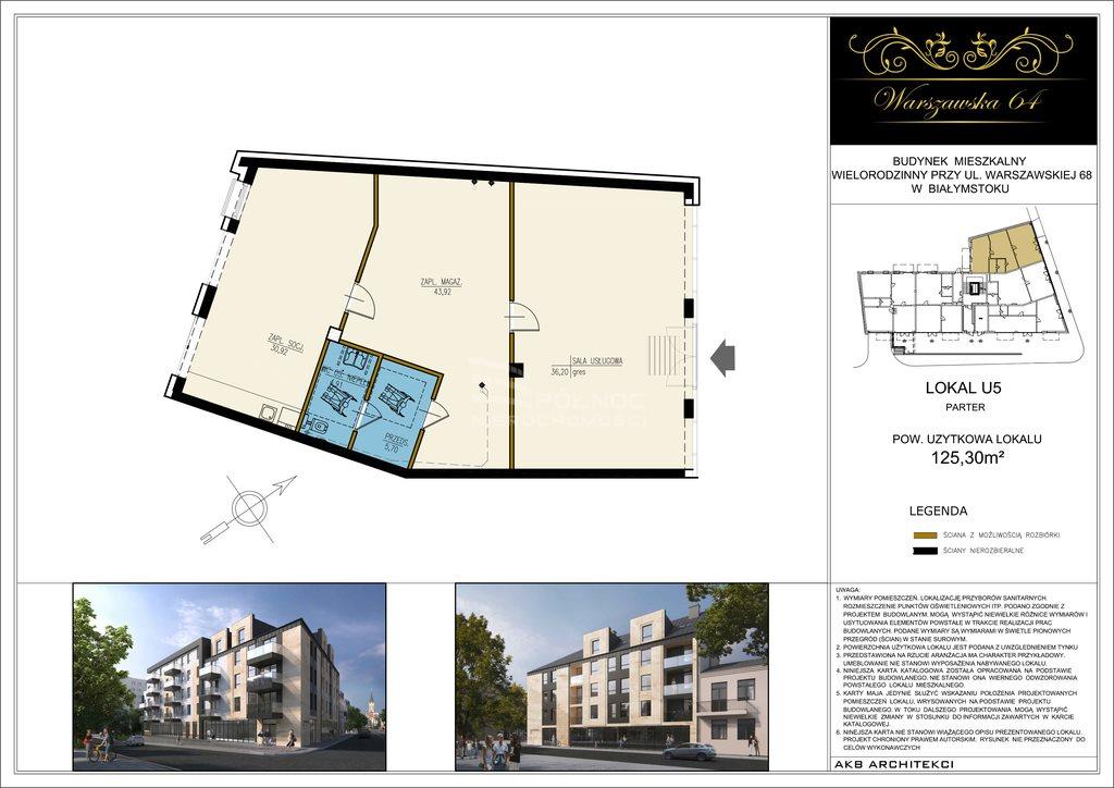 Lokal użytkowy na sprzedaż Białystok, Centrum, Warszawska  125m2 Foto 3