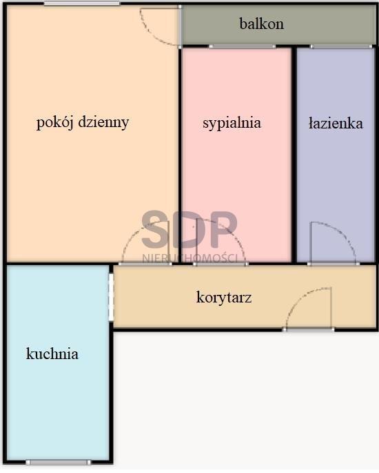 Mieszkanie dwupokojowe na sprzedaż Wrocław, Śródmieście, Biskupin, Abramowskiego Edwarda  43m2 Foto 5