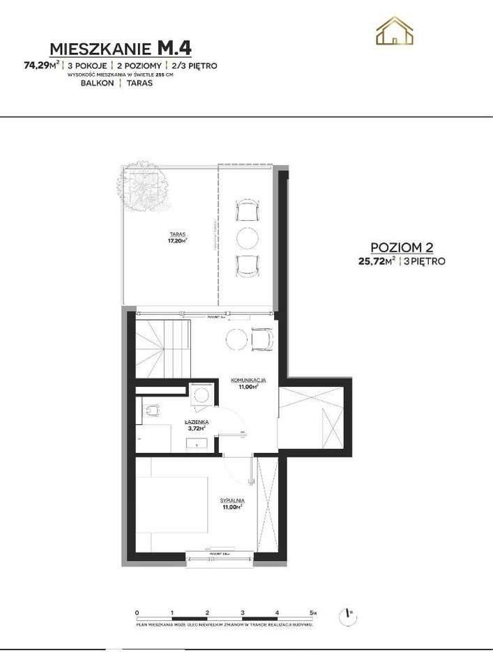 Mieszkanie trzypokojowe na sprzedaż Polkowice  74m2 Foto 2