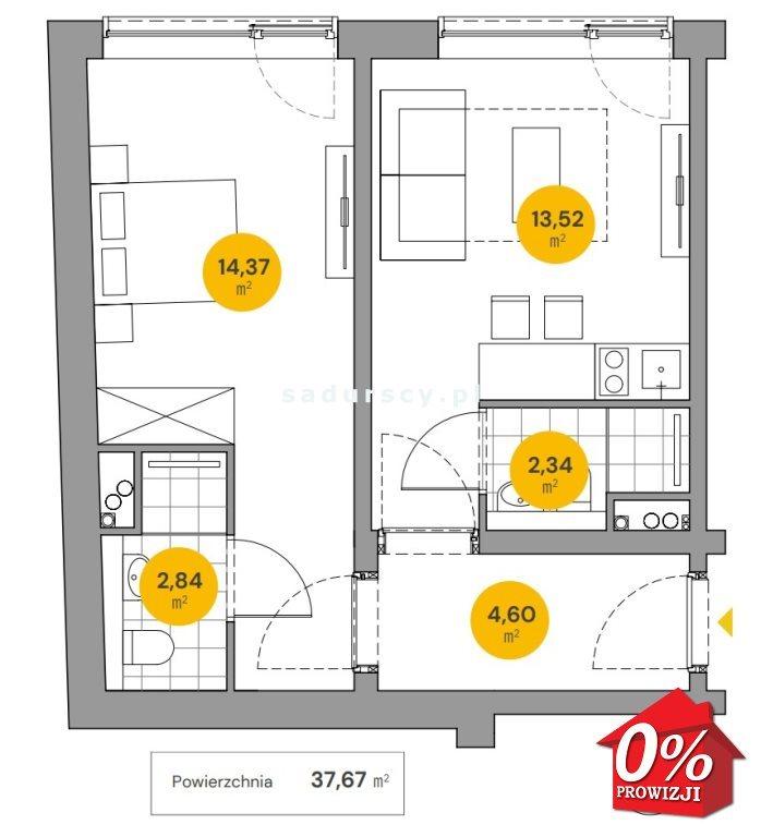 Mieszkanie dwupokojowe na sprzedaż Kraków, Stare Miasto, Stare Miasto, Wita Stwosza  38m2 Foto 3