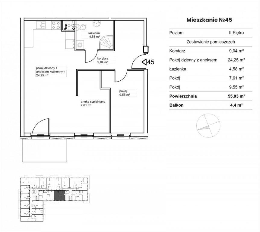 Mieszkanie trzypokojowe na sprzedaż Bydgoszcz, Okole, Garbary  55m2 Foto 8