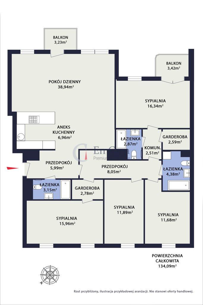 Mieszkanie na sprzedaż Warszawa, Żoliborz, Potocka  134m2 Foto 5