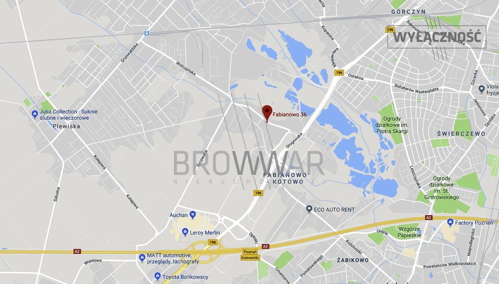 Działka komercyjna pod dzierżawę Poznań, Fabianowo-Kotowo  836m2 Foto 1