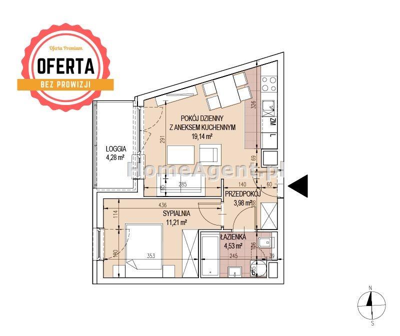 Mieszkanie dwupokojowe na sprzedaż Kraków, Podgórze, Bonarka  39m2 Foto 5