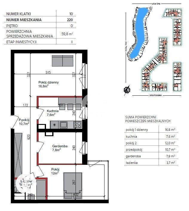 Mieszkanie czteropokojowe  na sprzedaż Bydgoszcz, Szwederowo, Orla  60m2 Foto 1