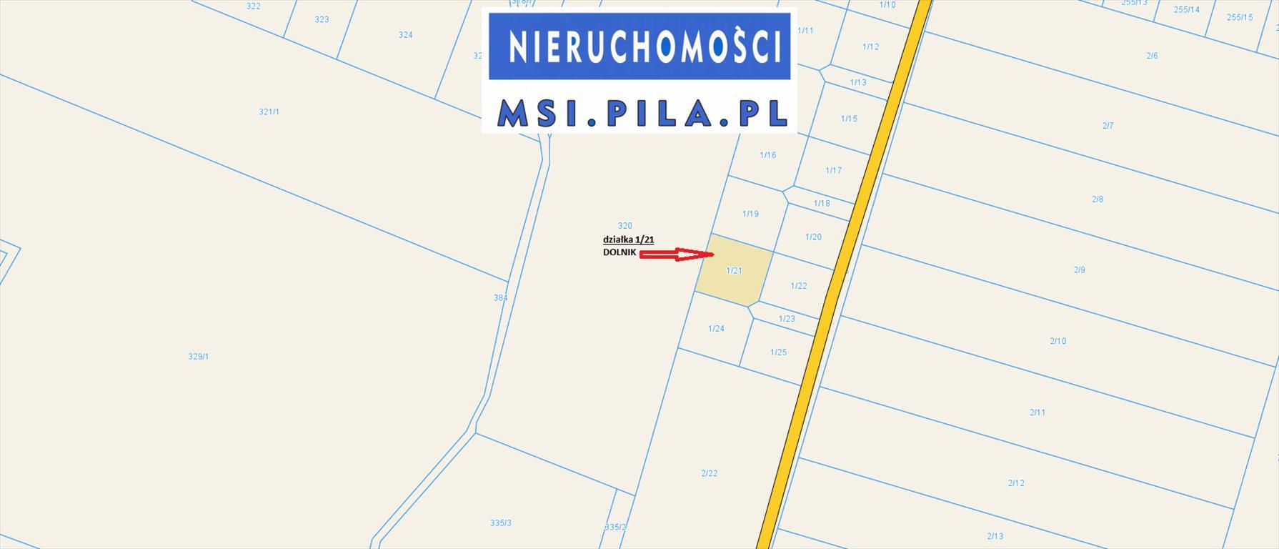 Działka budowlana na sprzedaż Dolnik  1208m2 Foto 4