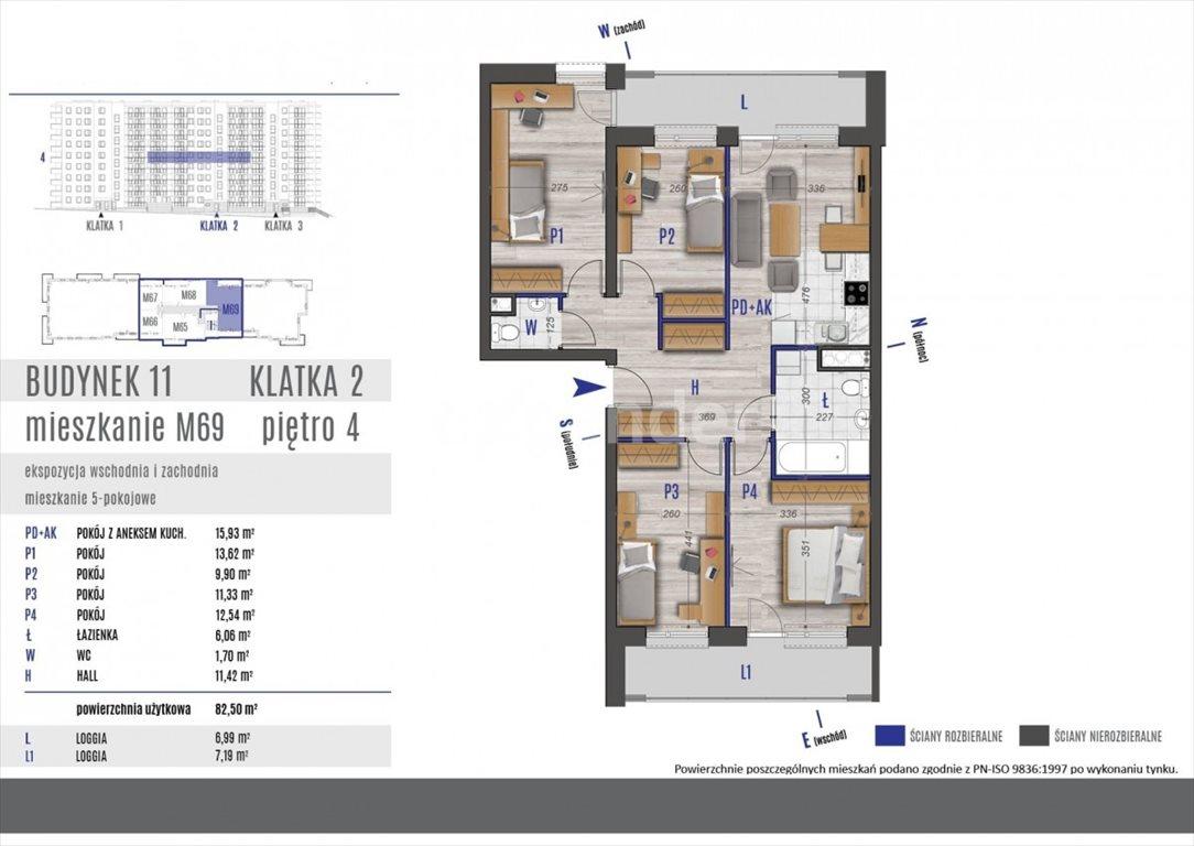 Mieszkanie na sprzedaż Rzeszów, bł. Karoliny  83m2 Foto 5