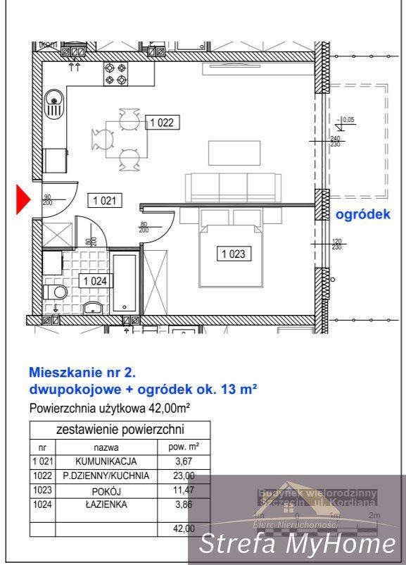Mieszkanie dwupokojowe na sprzedaż Szczecin, Bukowo, Kordiana  42m2 Foto 4