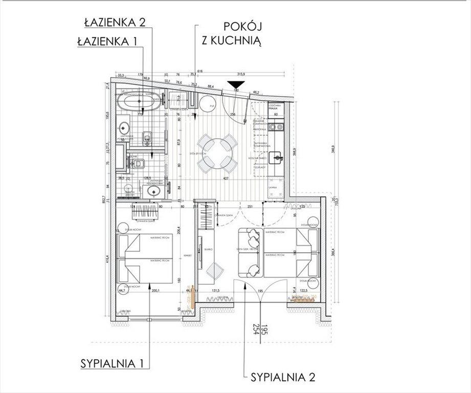 Mieszkanie dwupokojowe na sprzedaż Kraków, Dębniki, Antoniego Józefa Madalińskiego  51m2 Foto 2
