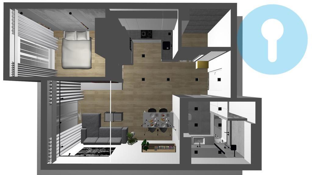Mieszkanie dwupokojowe na wynajem Kielce, Centrum  49m2 Foto 9