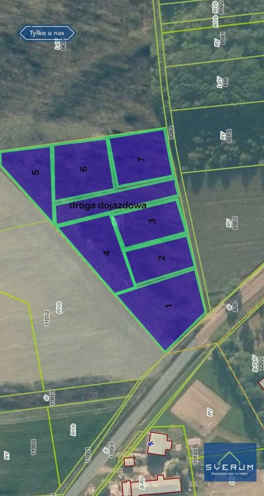 Działka leśna na sprzedaż Kłobuck, Brody-Malina  1118m2 Foto 2