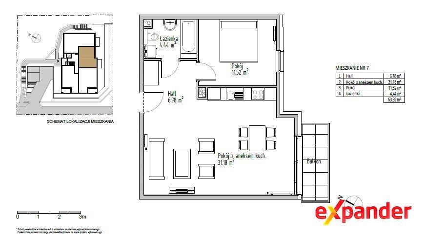 Mieszkanie dwupokojowe na sprzedaż Gdynia, Redłowo  54m2 Foto 1