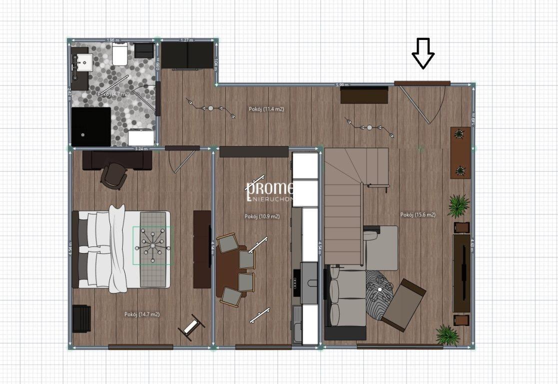 Mieszkanie trzypokojowe na sprzedaż Wrocław, Fabryczna, Leśnica  74m2 Foto 10