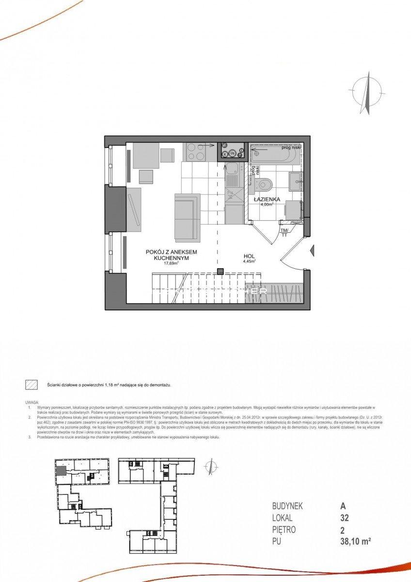 Mieszkanie dwupokojowe na sprzedaż Gdańsk, Wrzeszcz, Adama Mickiewicza  38m2 Foto 9