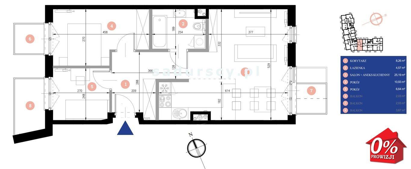 Mieszkanie trzypokojowe na sprzedaż Kraków, Podgórze, Zabłocie, Dekerta - okolice  56m2 Foto 3