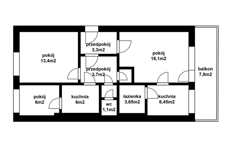 Mieszkanie czteropokojowe  na sprzedaż Kraków, Bronowice, Bronowice Małe, Głowackiego  60m2 Foto 10