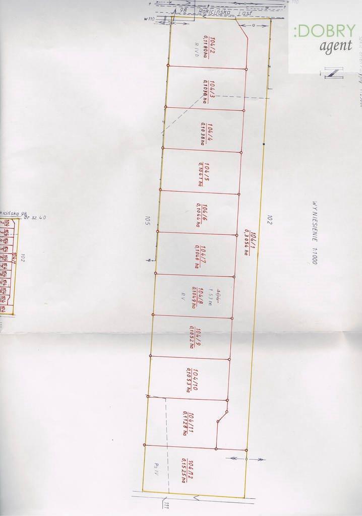 Działka budowlana na sprzedaż Nowe Chrusty  1044m2 Foto 3