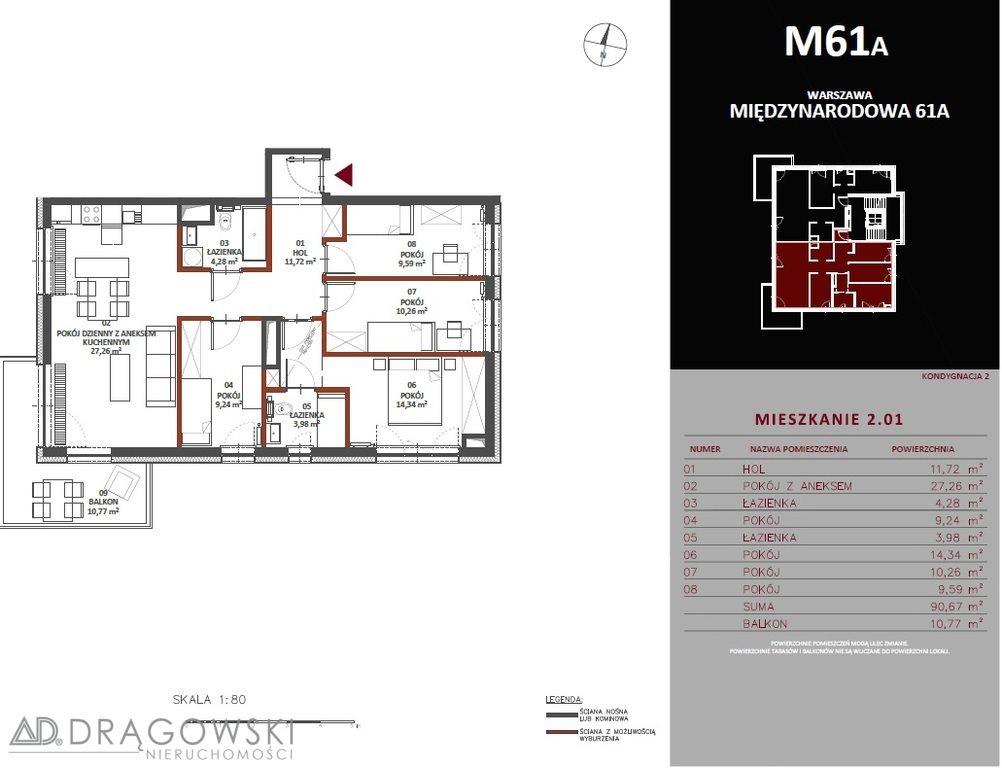 Mieszkanie na sprzedaż Warszawa, Praga-Południe, Saska Kępa, Międzynarodowa  91m2 Foto 5