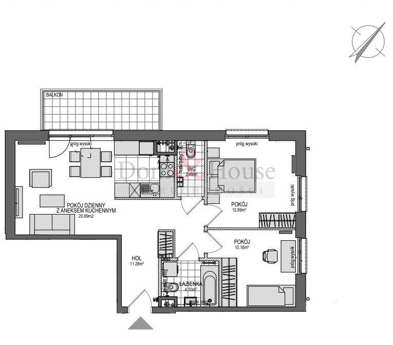 Mieszkanie trzypokojowe na sprzedaż Gdańsk, Śródmieście, Powstańców Warszawskich  65m2 Foto 3