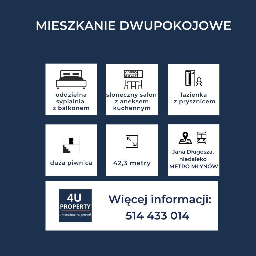 Mieszkanie dwupokojowe na sprzedaż Warszawa, Wola, Młynów, Długosza  42m2 Foto 8