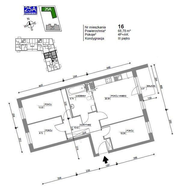 Mieszkanie czteropokojowe  na sprzedaż Bydgoszcz, Bartodzieje Wielkie, Kazimierza Pułaskiego  68m2 Foto 2