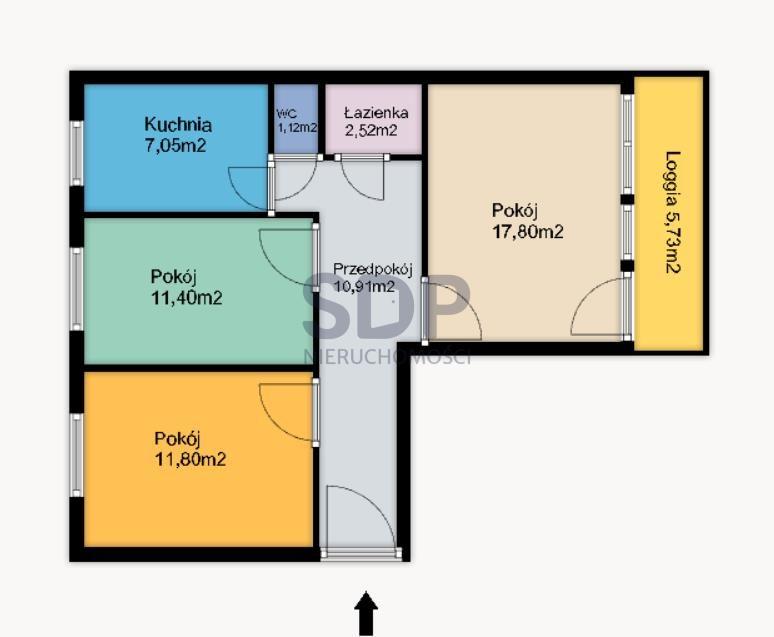 Mieszkanie trzypokojowe na sprzedaż Wrocław, Krzyki, Gaj, Orzechowa  65m2 Foto 2